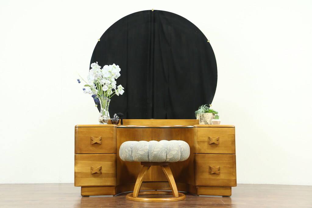 Midcentury Modern Vintage Vanity Or Dressing Table Amp Stool