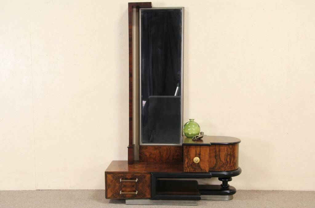 Art Deco Foyer Furniture : Sold italian art deco rosewood burl beveled hall