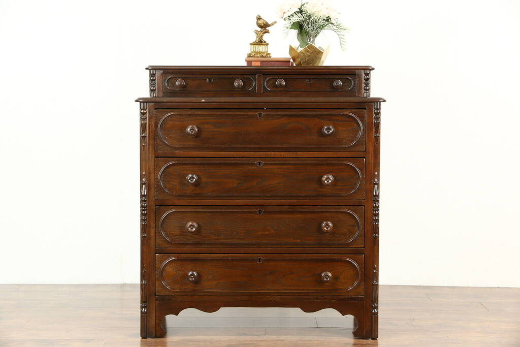 Sold Victorian 1860 S Chest Or Dresser Handkerchief Or