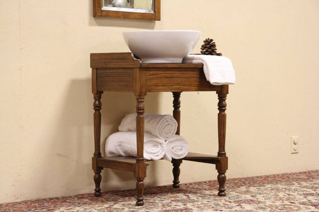 Sold Victorian 1860 Washstand Vessel Sink Vanity