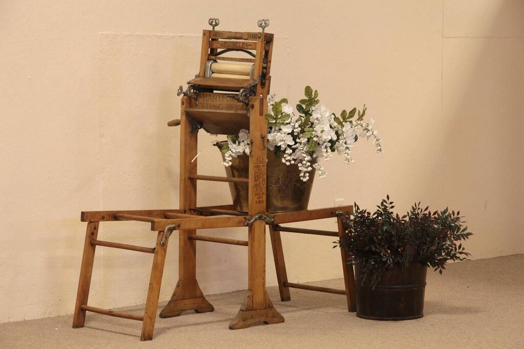 Sold Anchor Antique Clothes Wringer 1898 Plant Stand