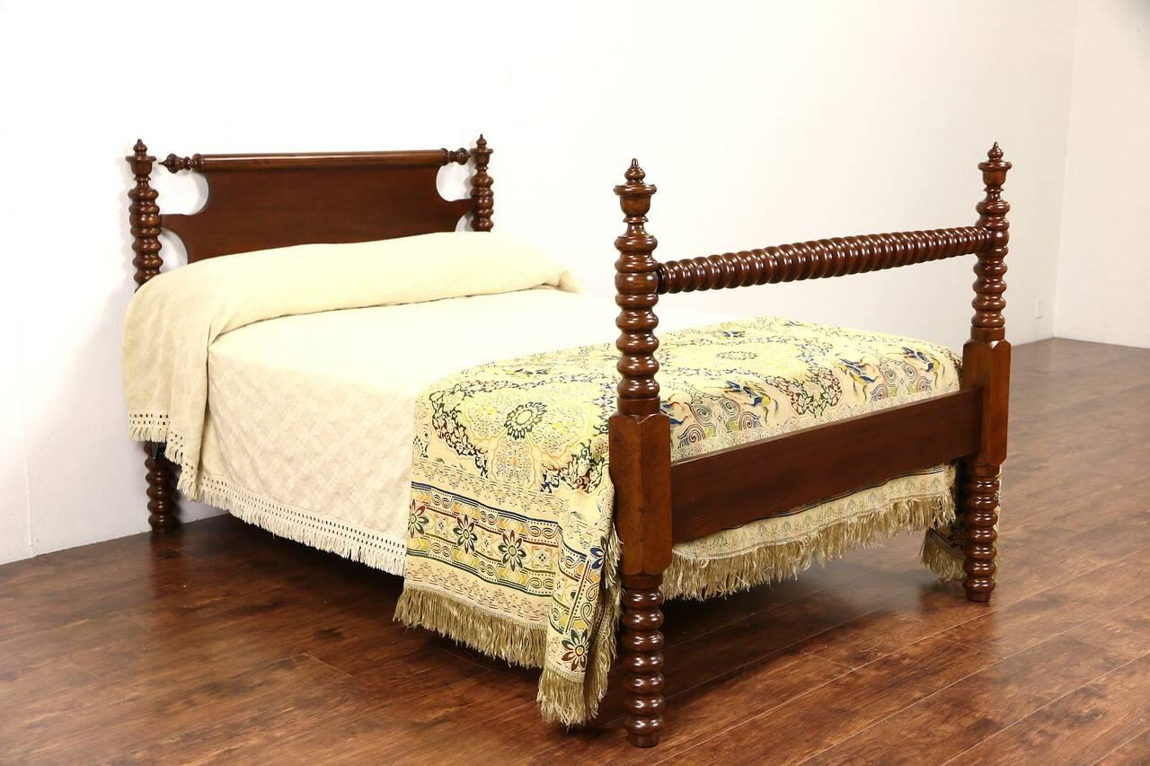 Antique Spool Bed Walnut Full Size