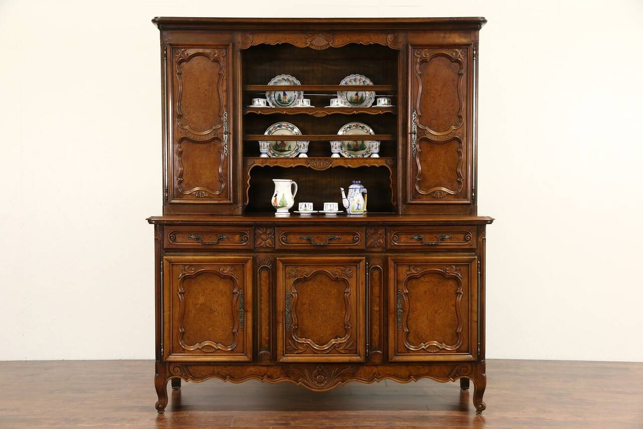 country french cherry elm 1890 antique vaisselier pewter. Black Bedroom Furniture Sets. Home Design Ideas