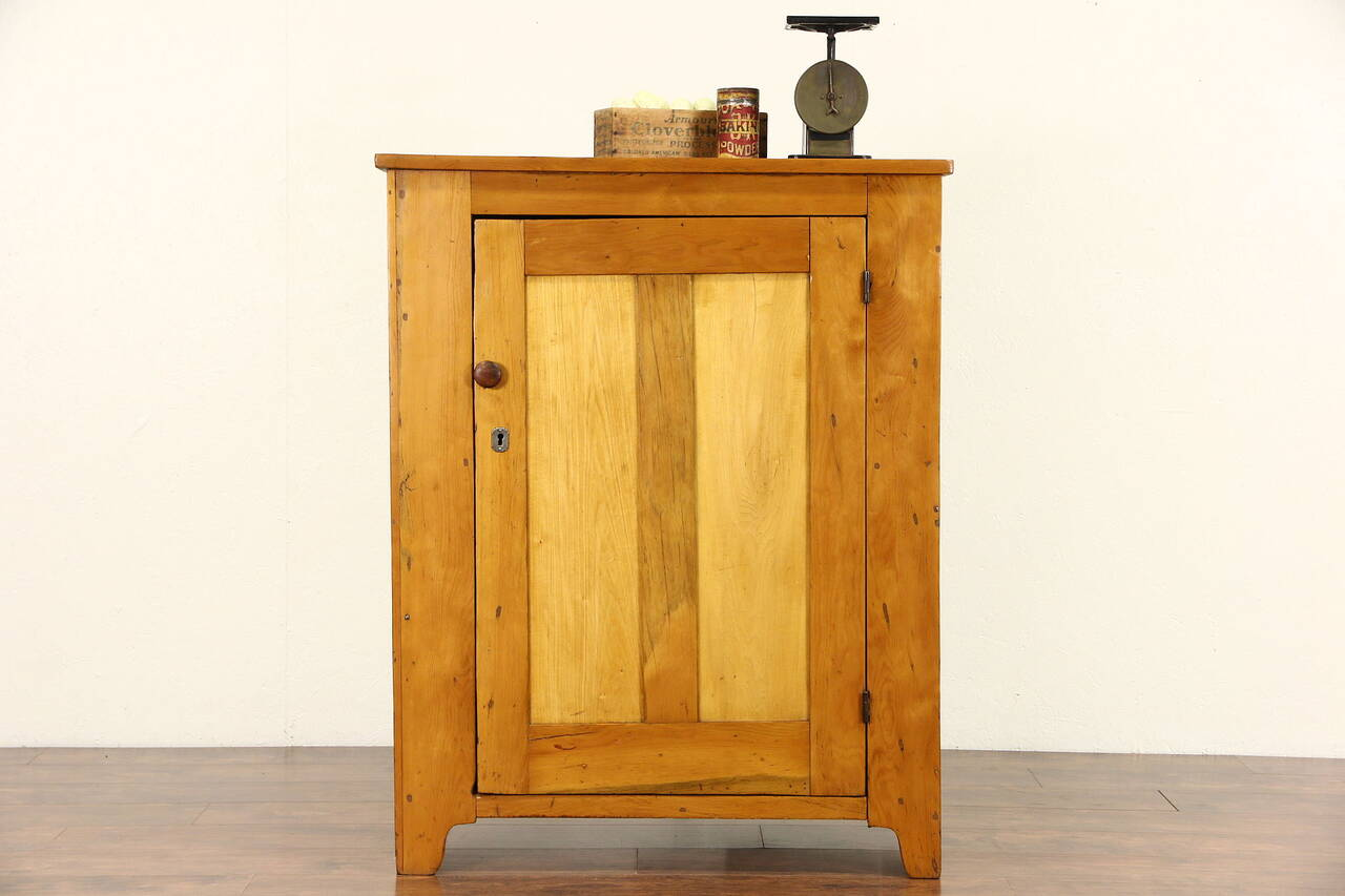 Country Pine 1860 S Antique Pantry Cupboard Ebay