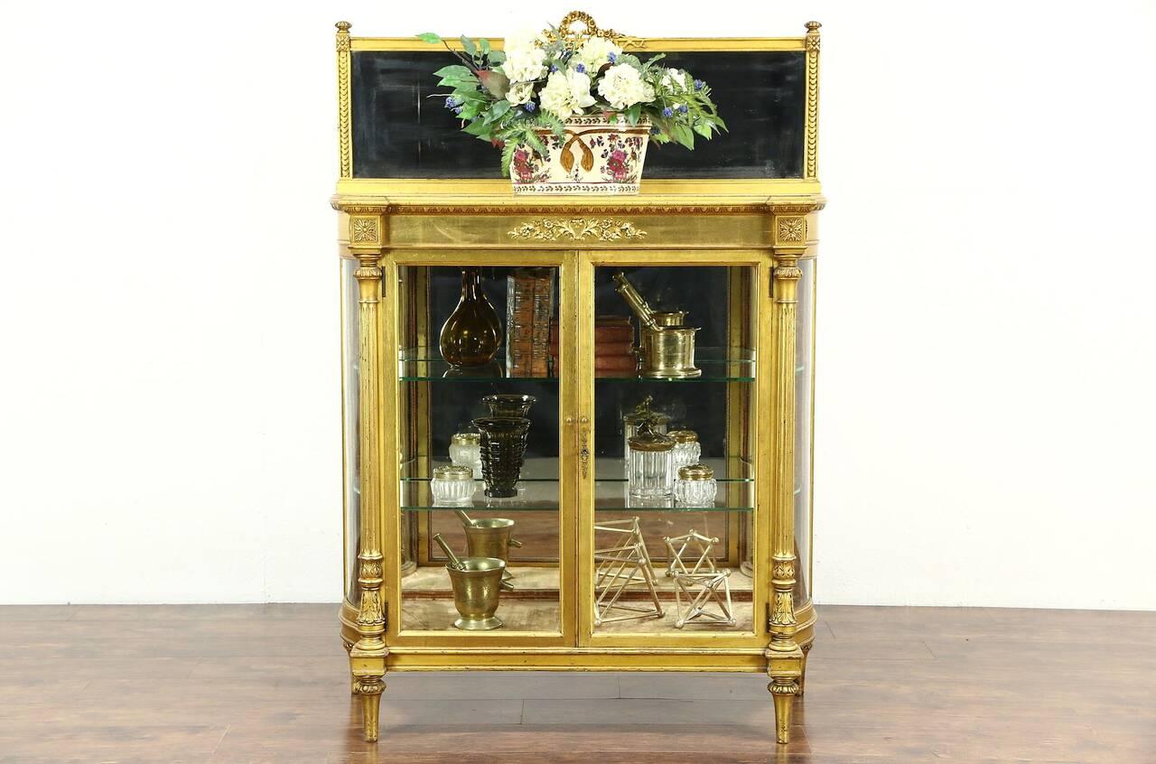 Silver Curio Cabinet