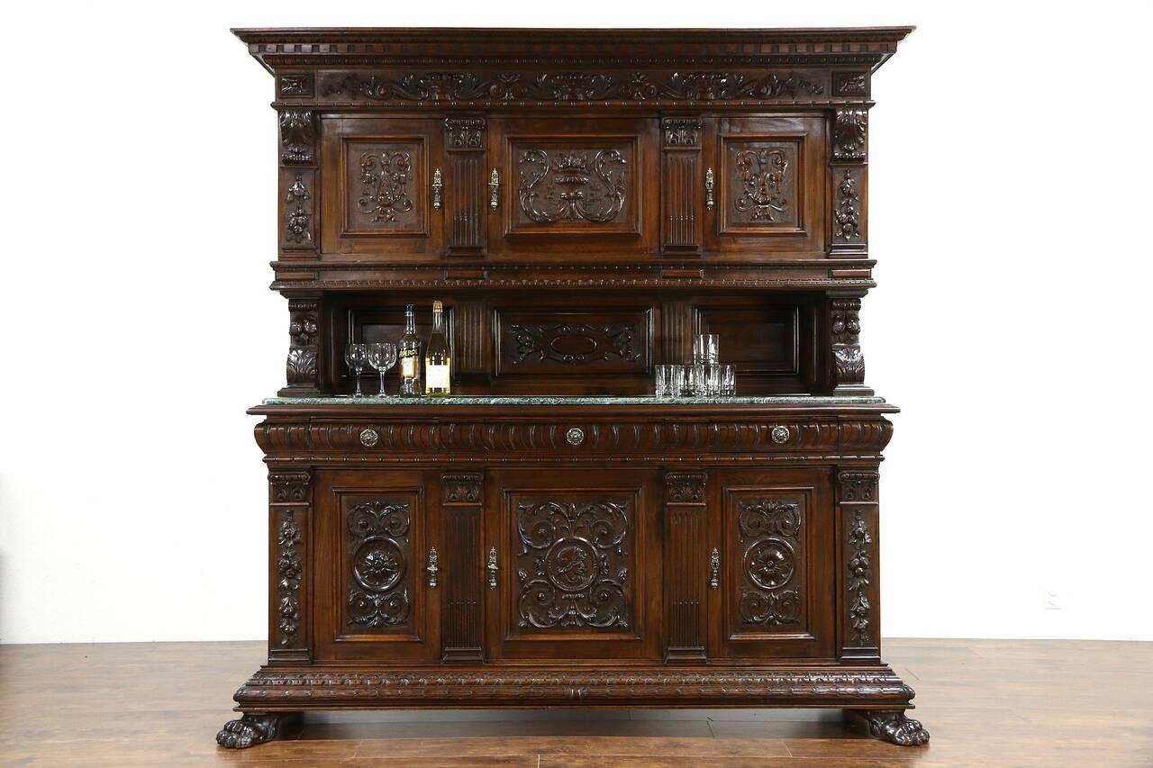 Italian Renaissance 1900 Antique Back Bar, China Cabinet ...