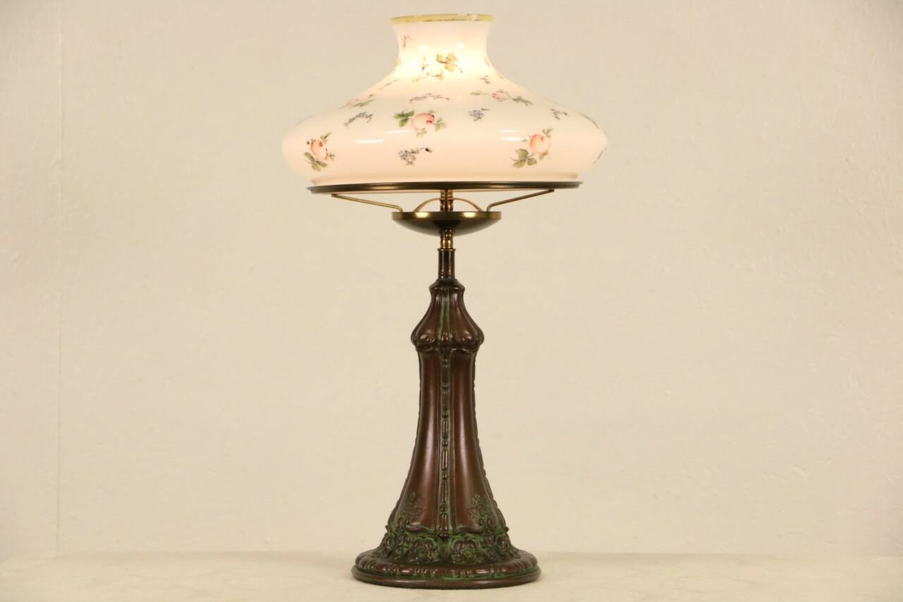 Table Lamp 1915 Antique Hand Painted Milk Glass Shade eBay : 12801280erlmp12 2 15f from www.ebay.com size 1280 x 853 jpeg 34kB