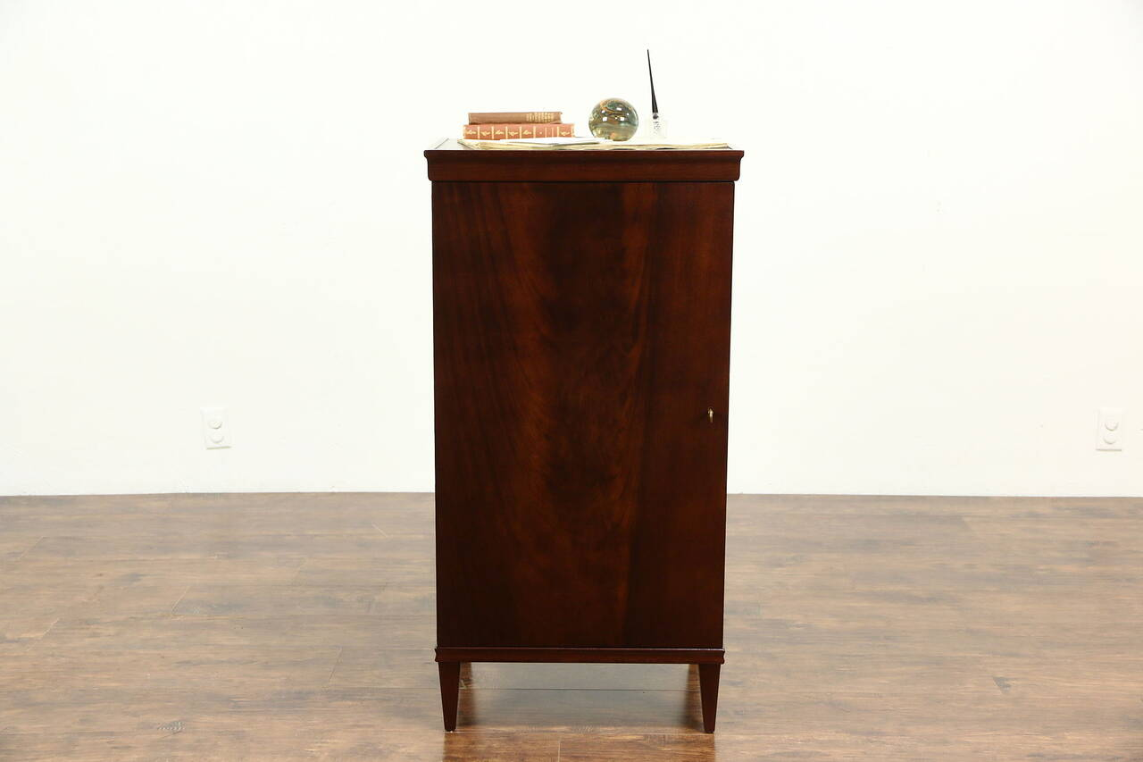 Mahogany 1920 Antique Music Cabinet, Nightstand or Pedestal - Mahogany 1920 Antique Music Cabinet, Nightstand Or Pedestal EBay