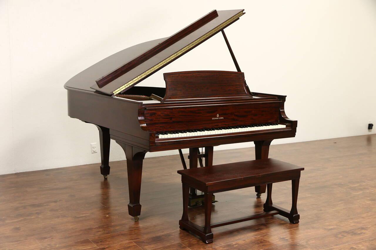 Steinway 1947 Mahogany Model L Grand Piano Bench Ebay