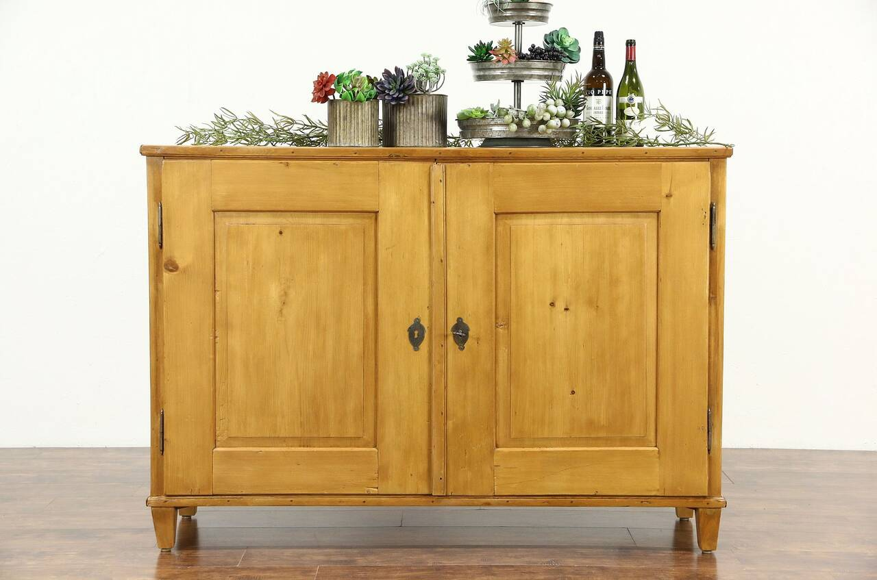 country pine antique 1890 39 s sideboard pantry cupboard or tv console cabinet auctions buy and. Black Bedroom Furniture Sets. Home Design Ideas