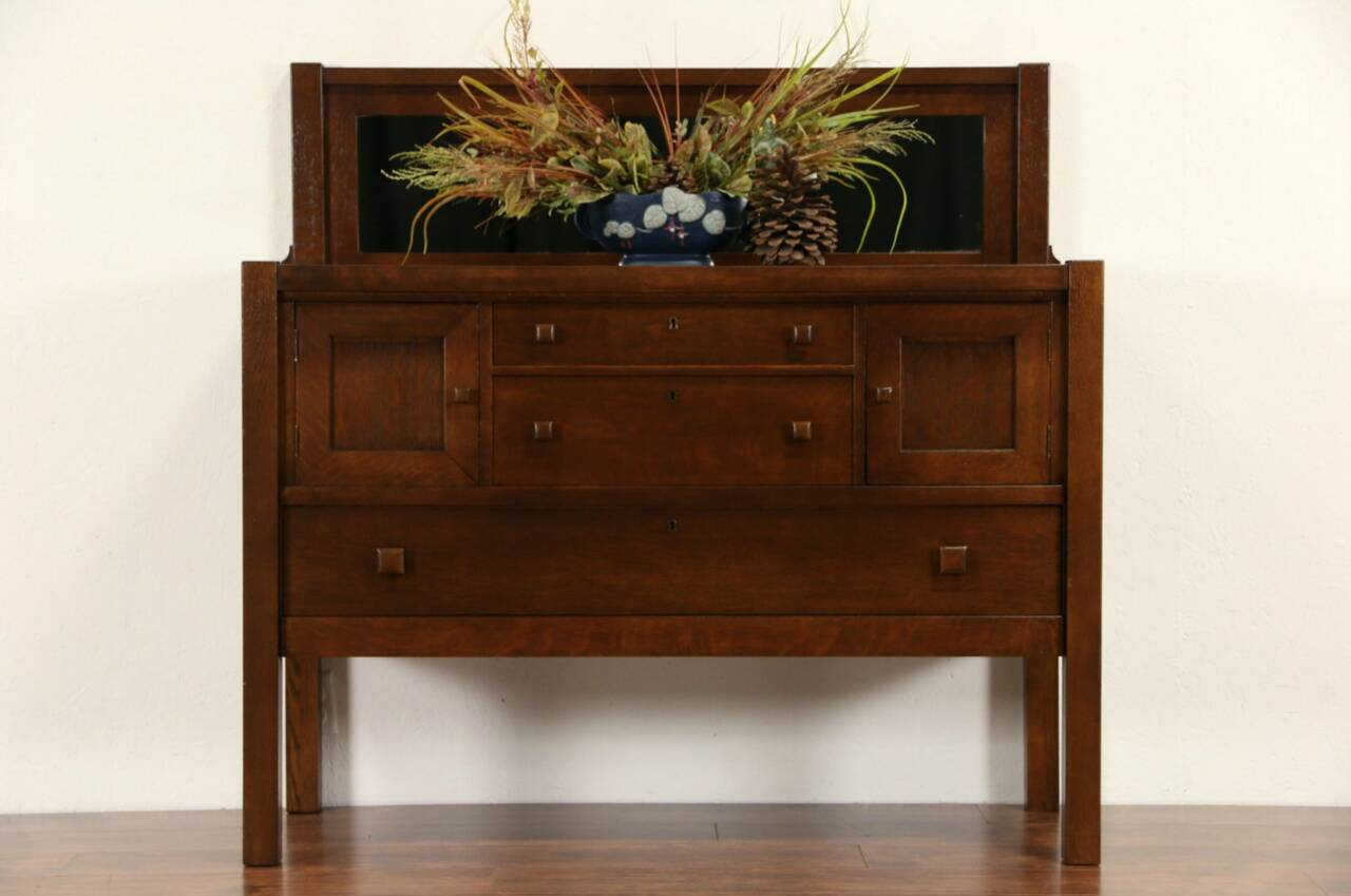 arts crafts mission oak 1905 antique craftsman sideboard