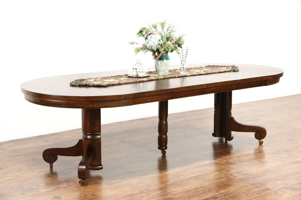 Round Quarter Sawn Oak 1900 Antique 45quot Pedestal Dining  : 12801280sztab11 1 16chrs from www.ebay.com size 1280 x 853 jpeg 75kB