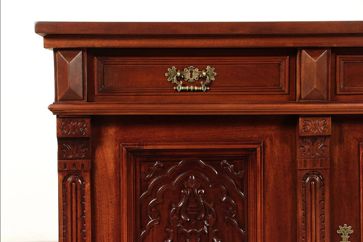 Cherry Antique Sideboard, Server, Hall or TV Console Cabinet #29227 eBay