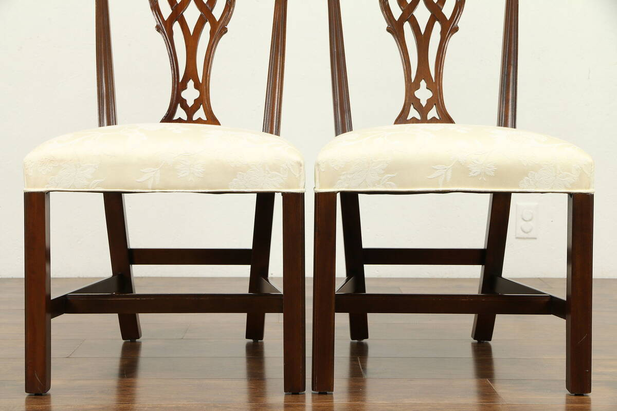 Georgian Style Set of 6 Vintage Mahogany Dining Chairs ...