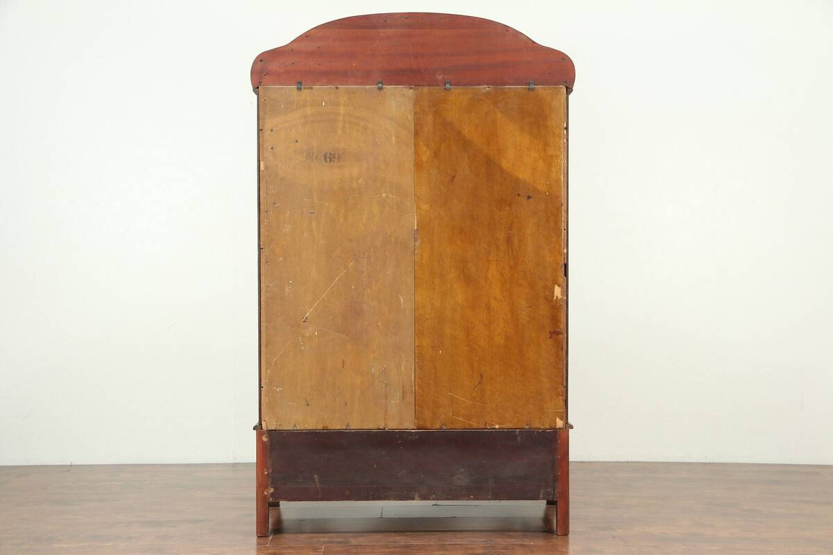 Details About Empire Antique Mahogany Bookcase Curio Display Or Bath Linen Cabinet 28947