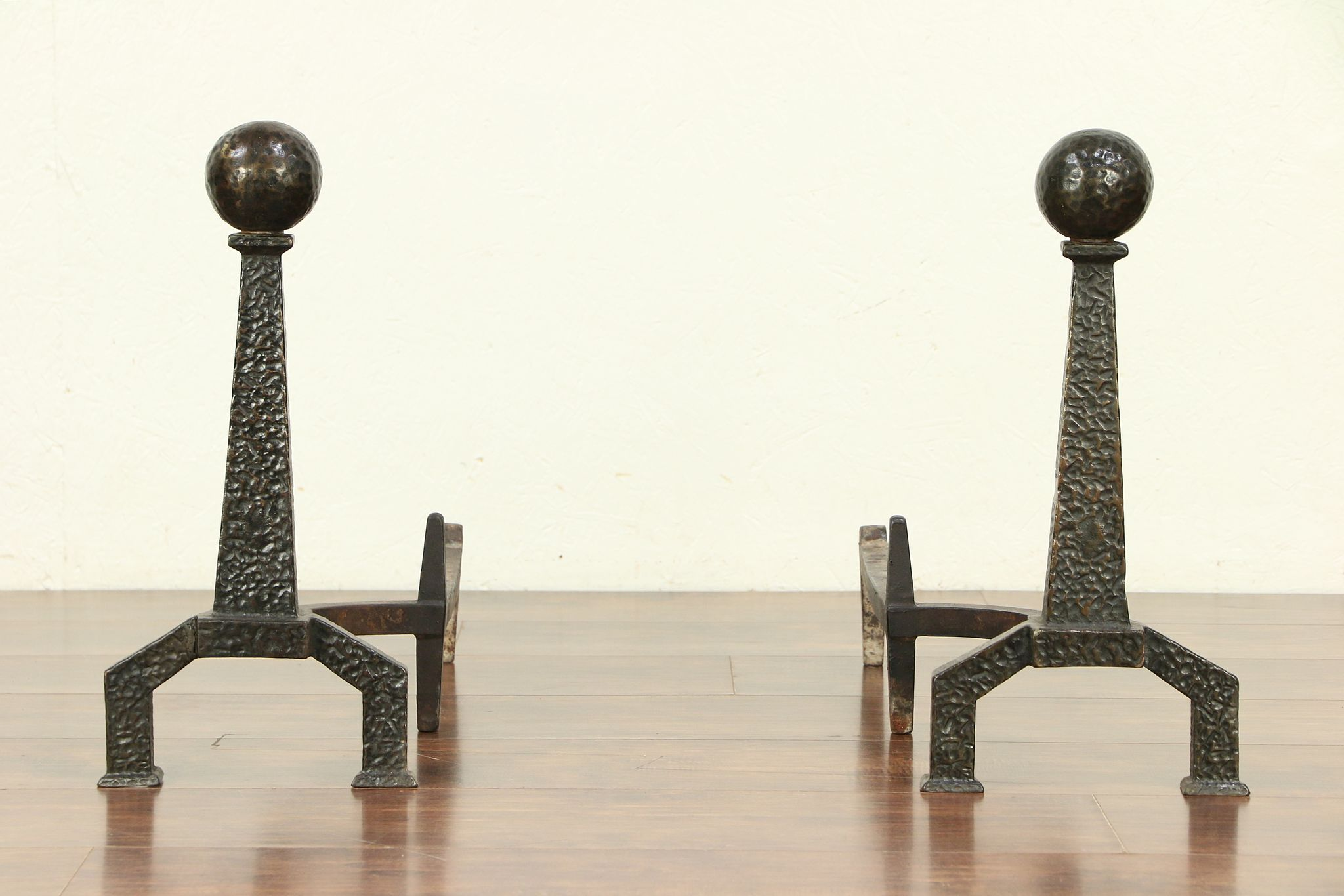 Sold Pair Of Bradley Hubbard Iron Arts Crafts Antique
