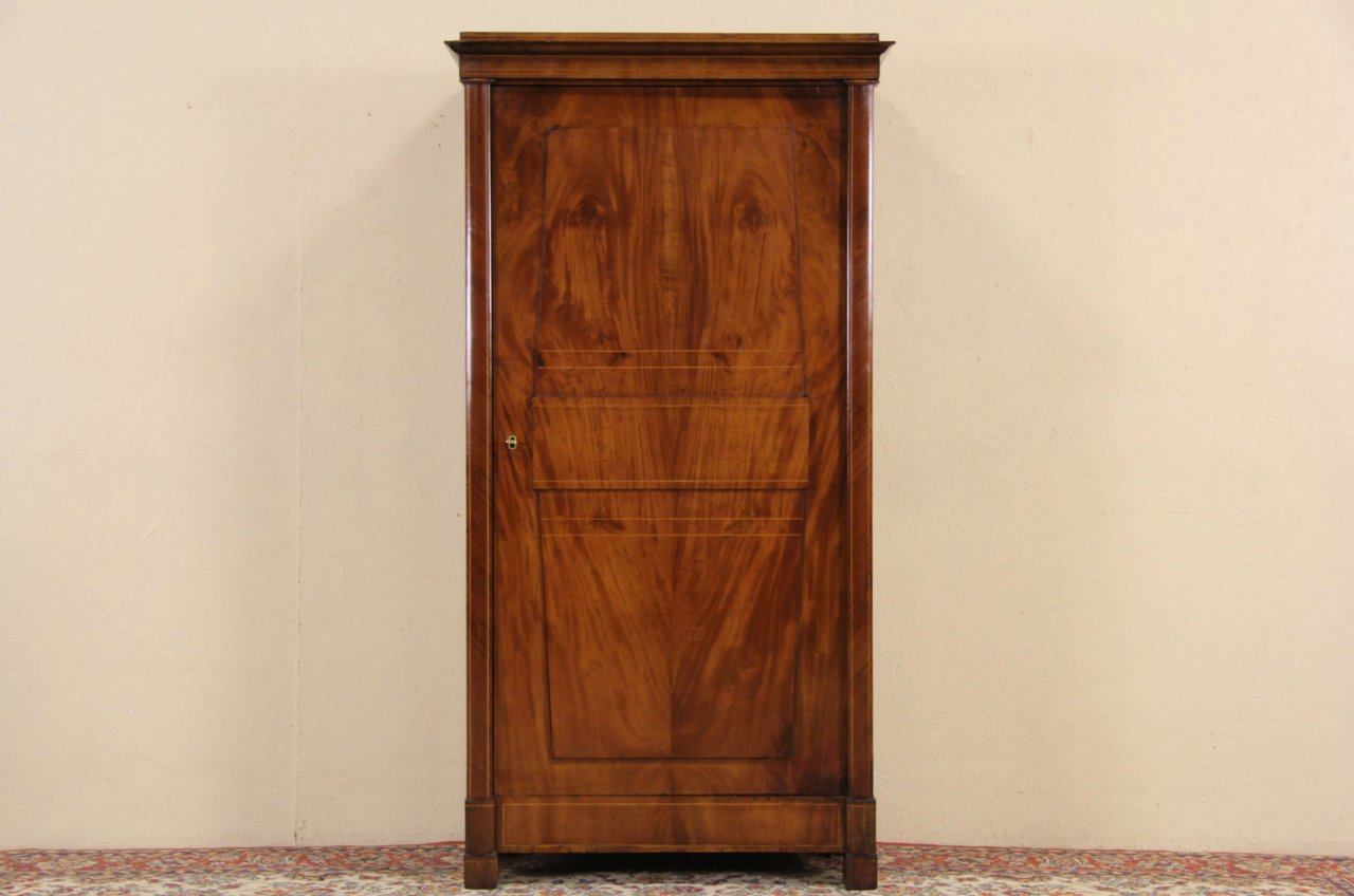 Austrian 1840u0027s Antique Mahogany Armoire Or Closet ...