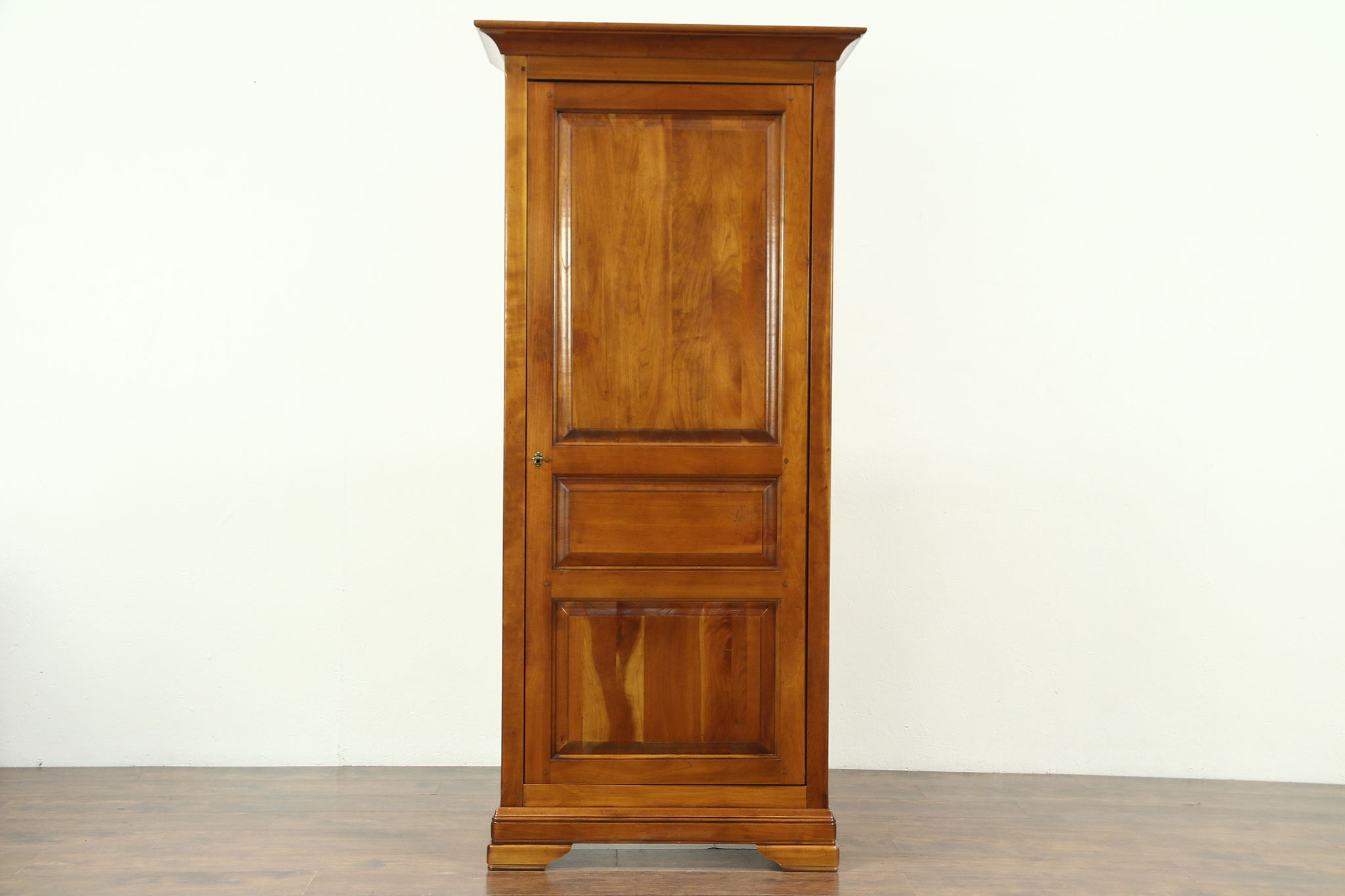 Genial Cherry Vintage Armoire, Linen Cabinet Or Pantry Cupboard, Raised Panels  Photo