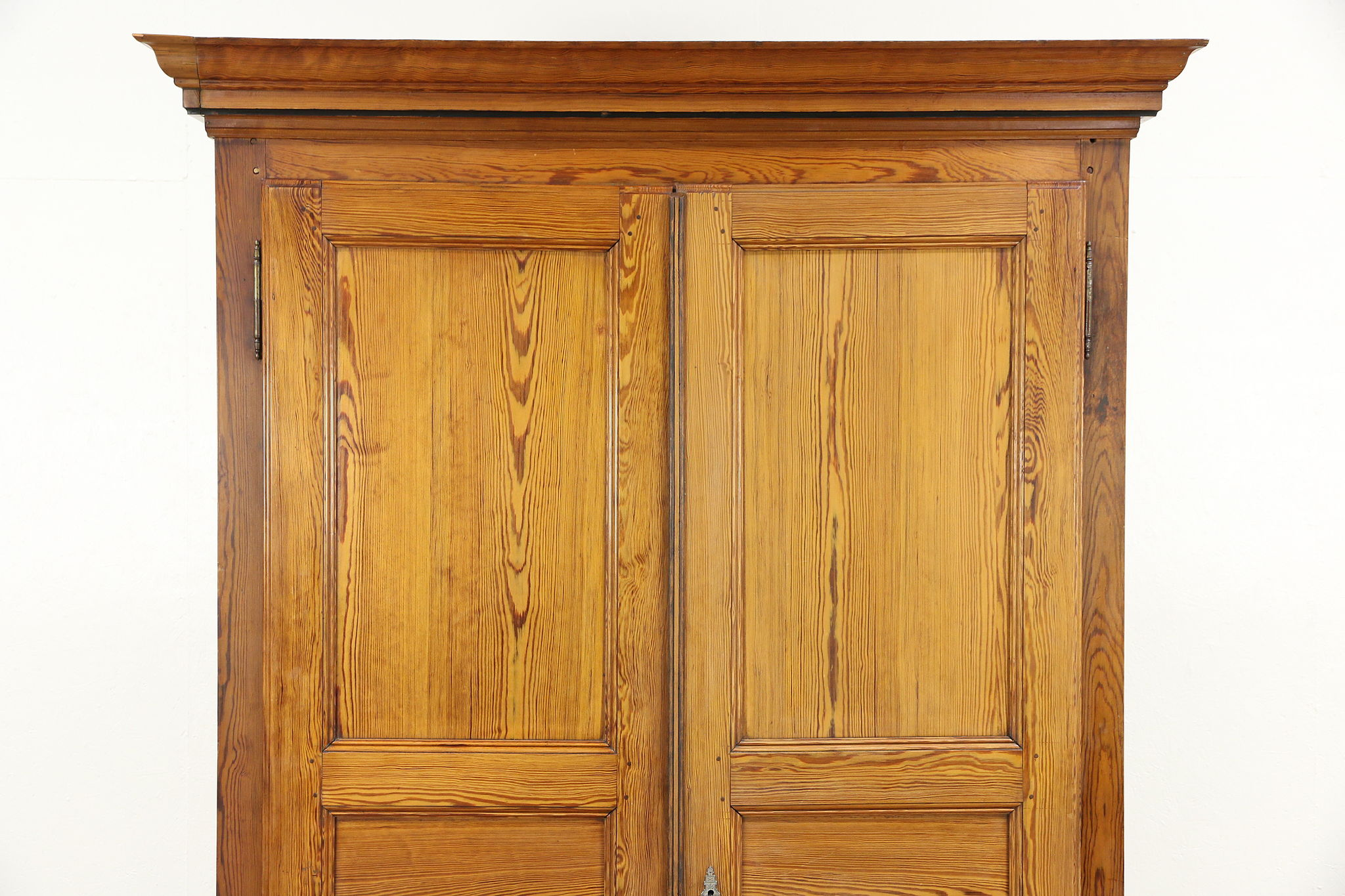 Pine Antique 1890 Hand Crafted Armoire, Wardrobe Or Closet, Austria Or  Czech ...