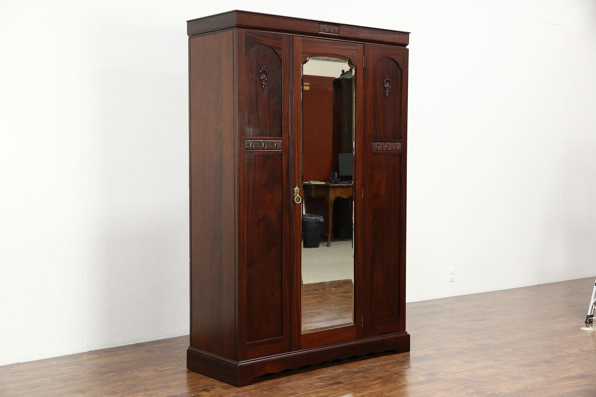 SOLD - English 1910 Antique Armoire, Wardrobe or Closet ...