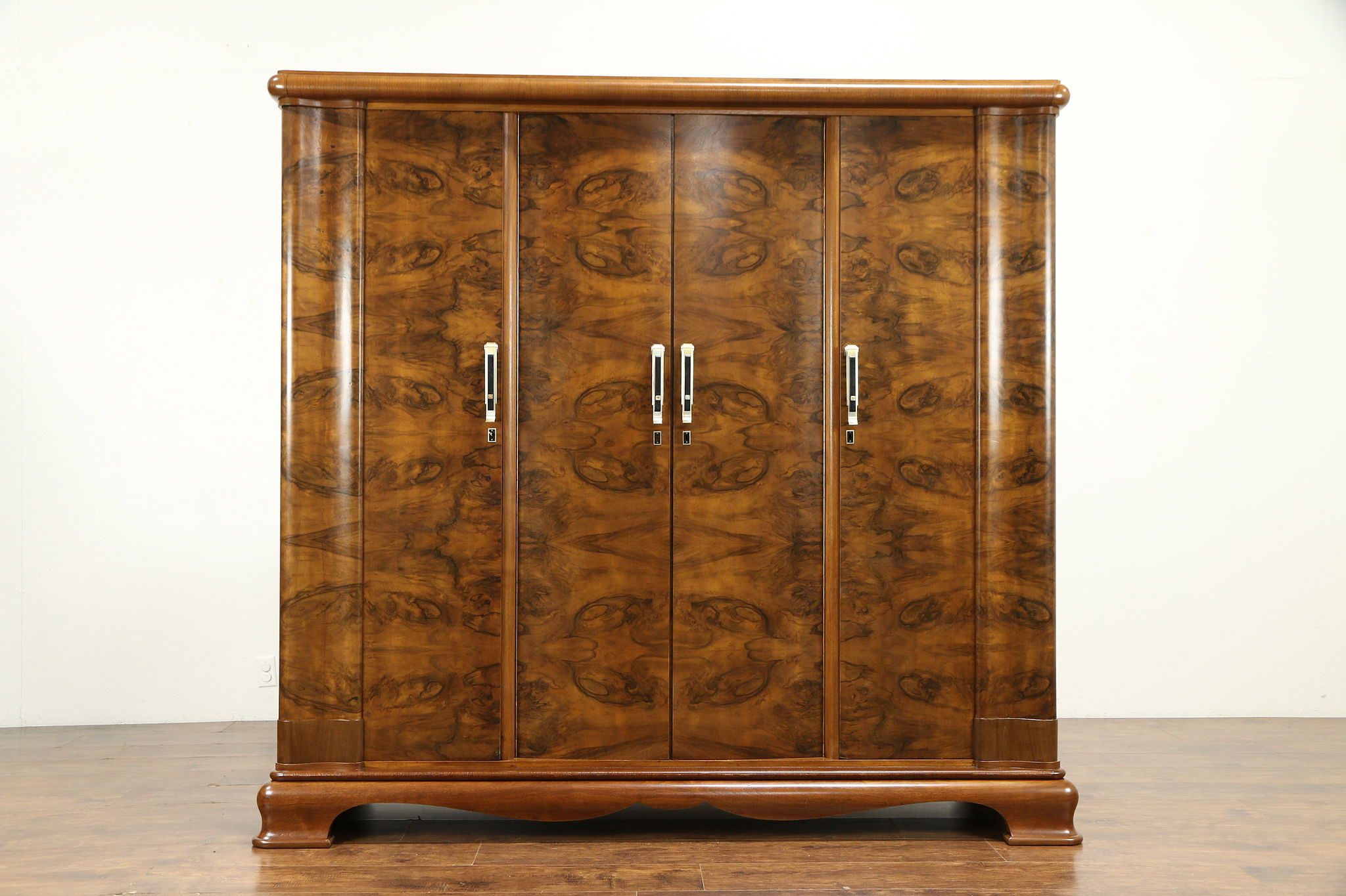 SOLD - Art Deco Italian 4 Door Walnut & Burl Vintage ...
