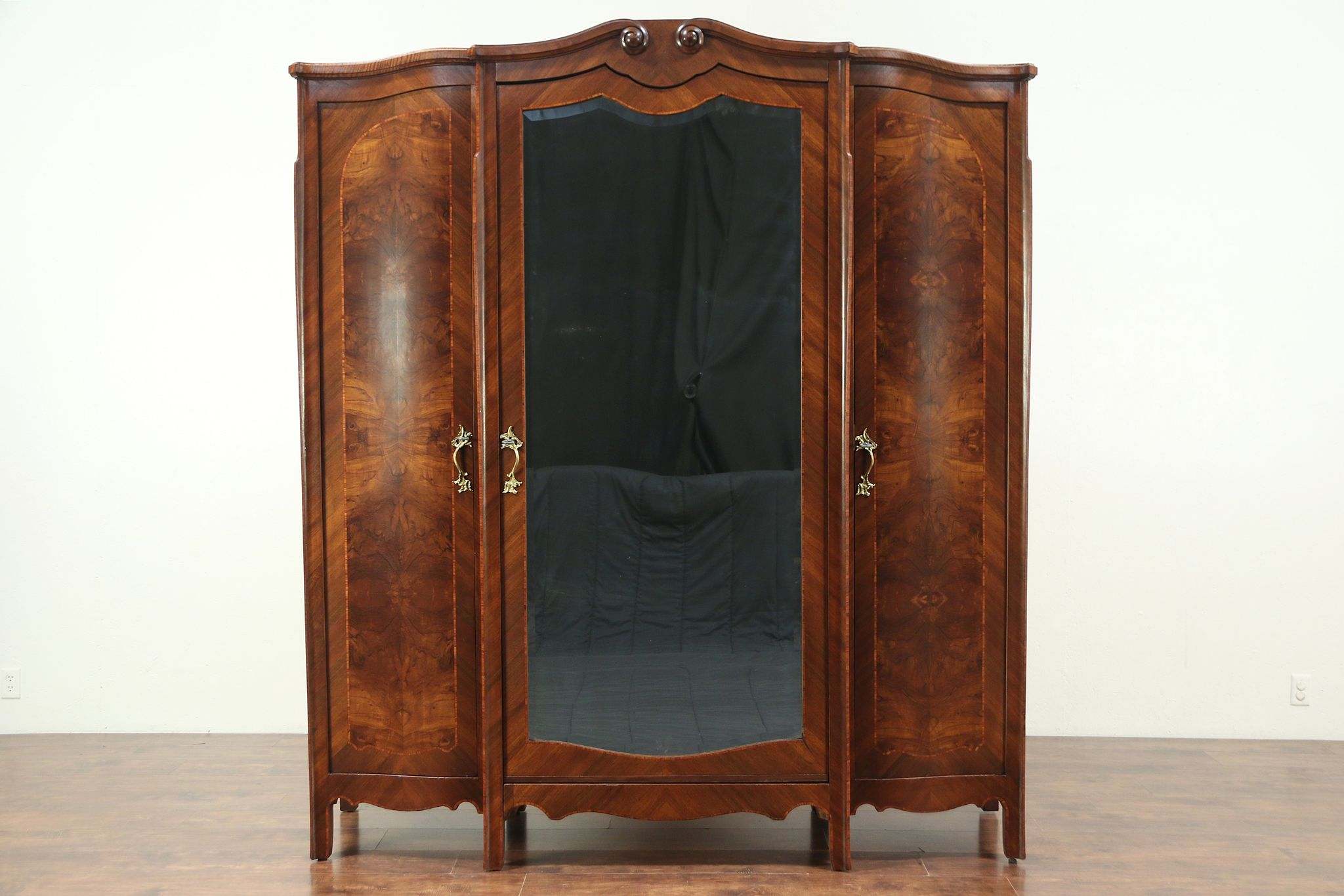 Sold Triple Antique Armoire Wardrobe