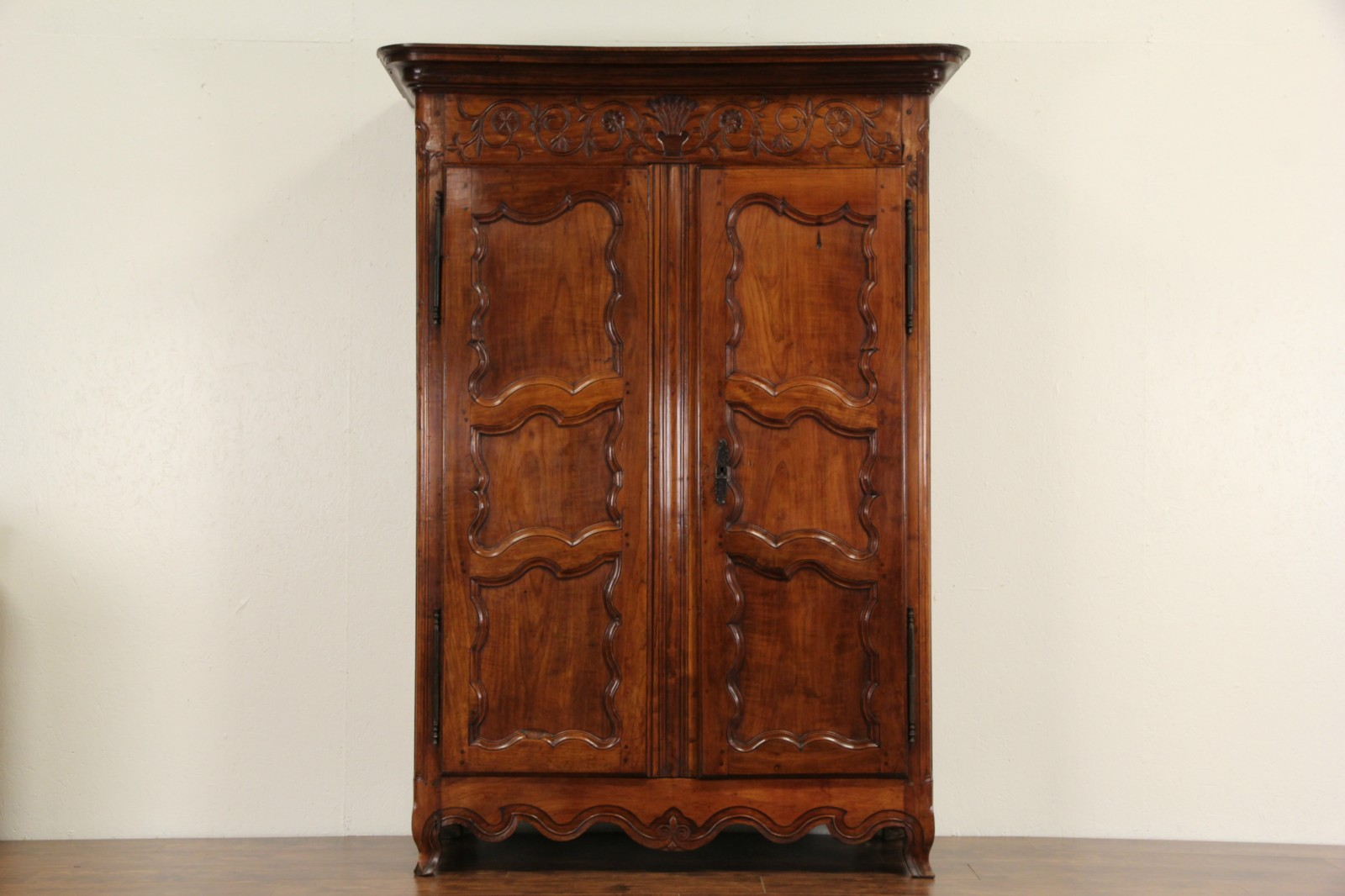 Bon Country French Provincial 1780 Antique Cherry Armoire Or Wardrobe Closet ...