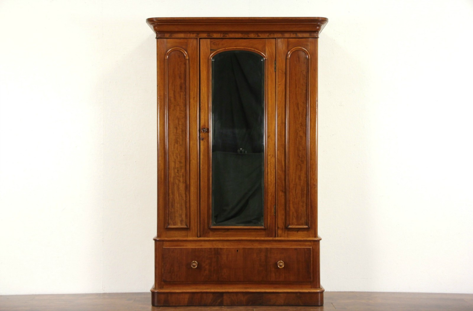 Victorian Scottish 1880 Antique Mahogany Armoire Or Closet ...