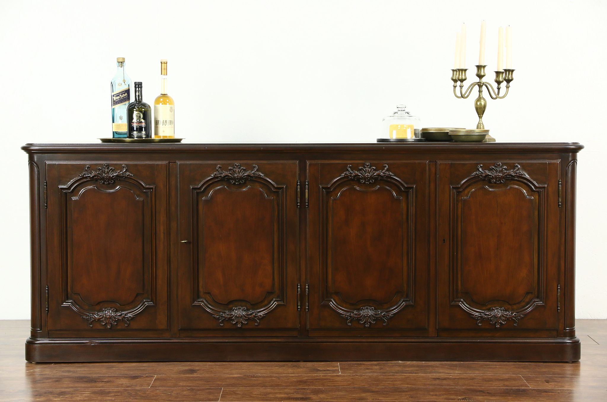 Sold Baker Signed Cherry Country French Sideboard