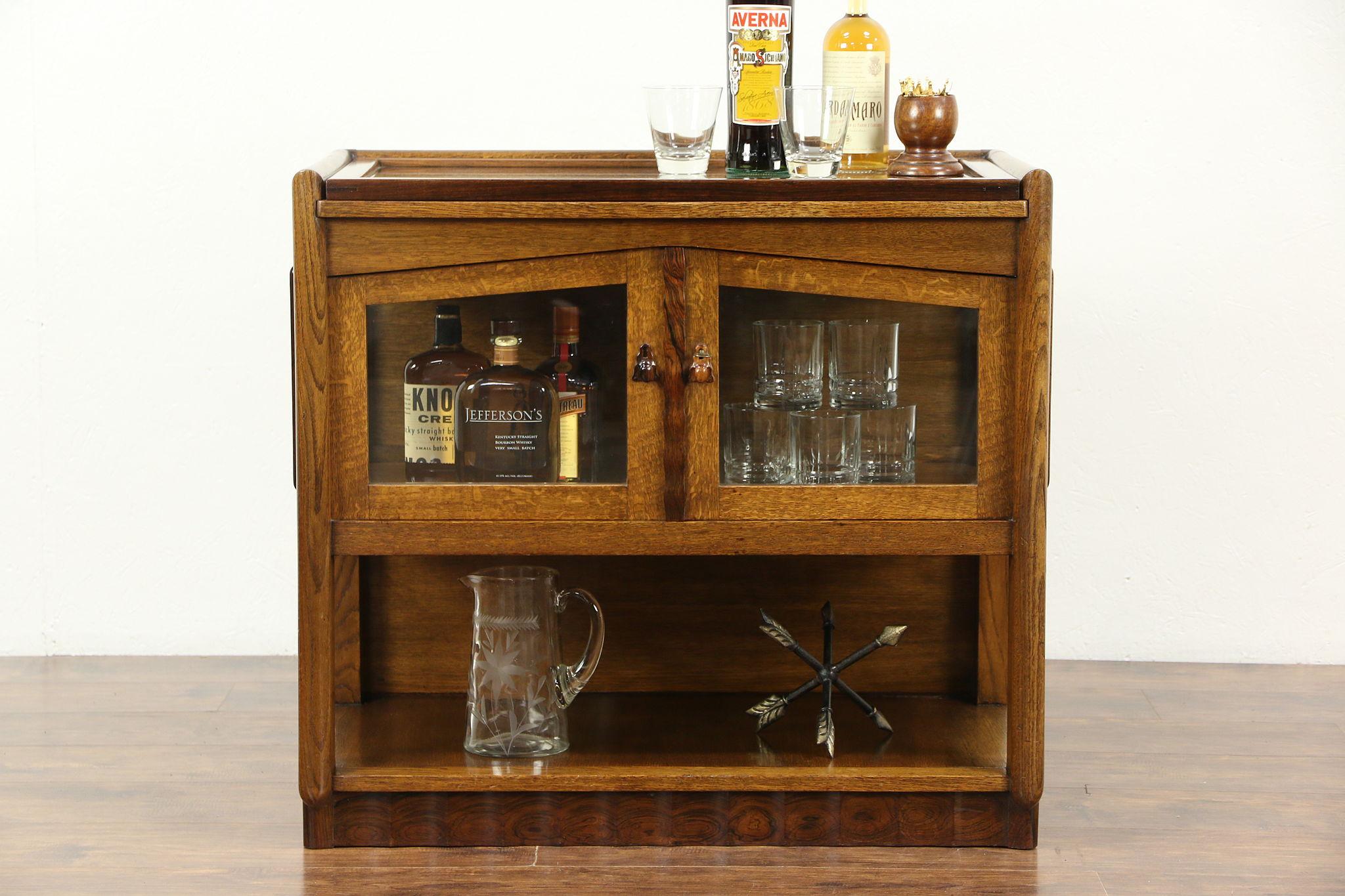 Delicieux Art Deco 1925 Vintage Bar Cabinet U0026 Tray, Oak U0026 Rosewood, Scandinavia