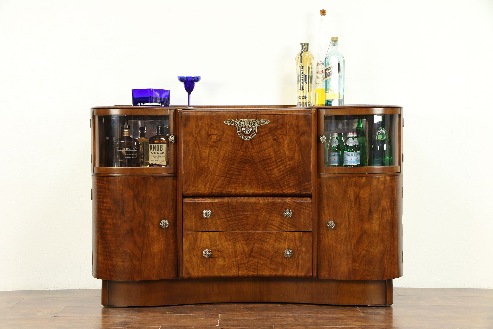 Art Deco Vintage English Bar Liquor