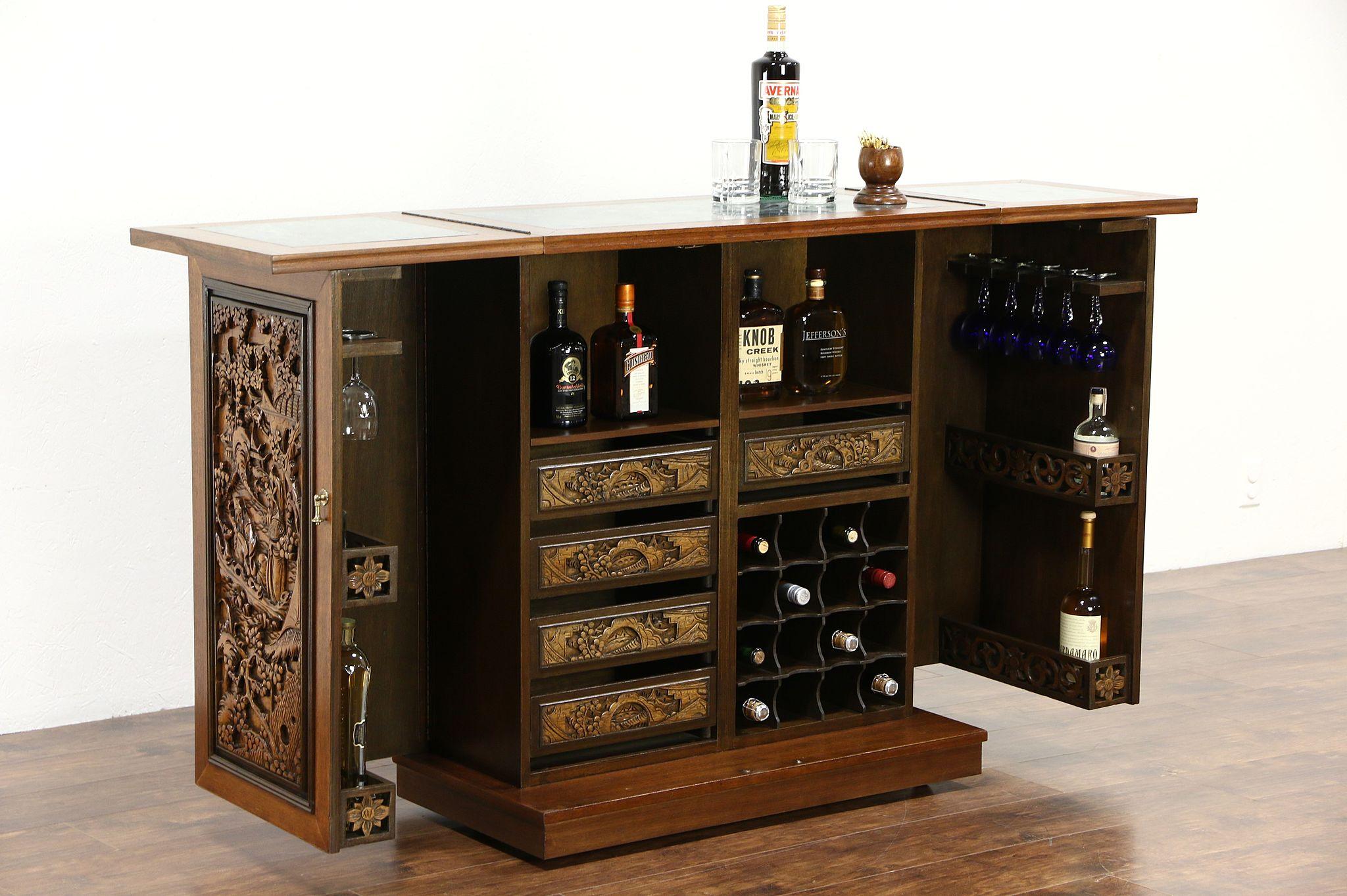 Marble Top Bar Cabinet Zef Jam