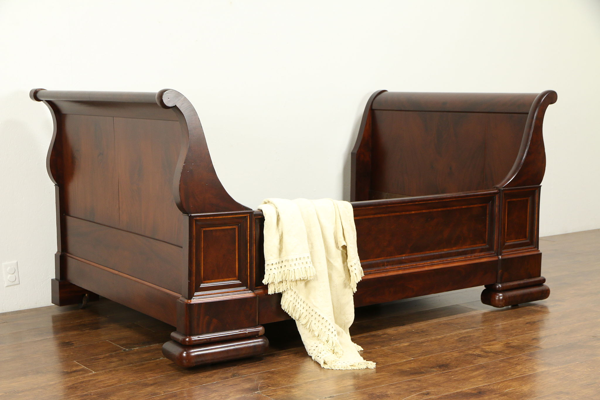Sold Empire Antique 1840 Austrian Mahogany Sleigh Bed Or Day Bed 32444 Harp Gallery Antiques Furniture