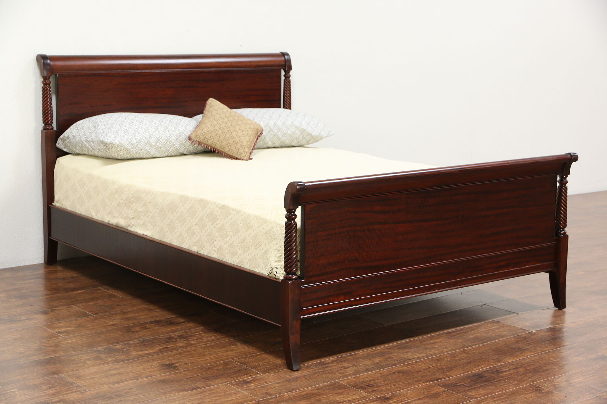 Sold Full Size Vintage Mahogany Bed Signed Drexel