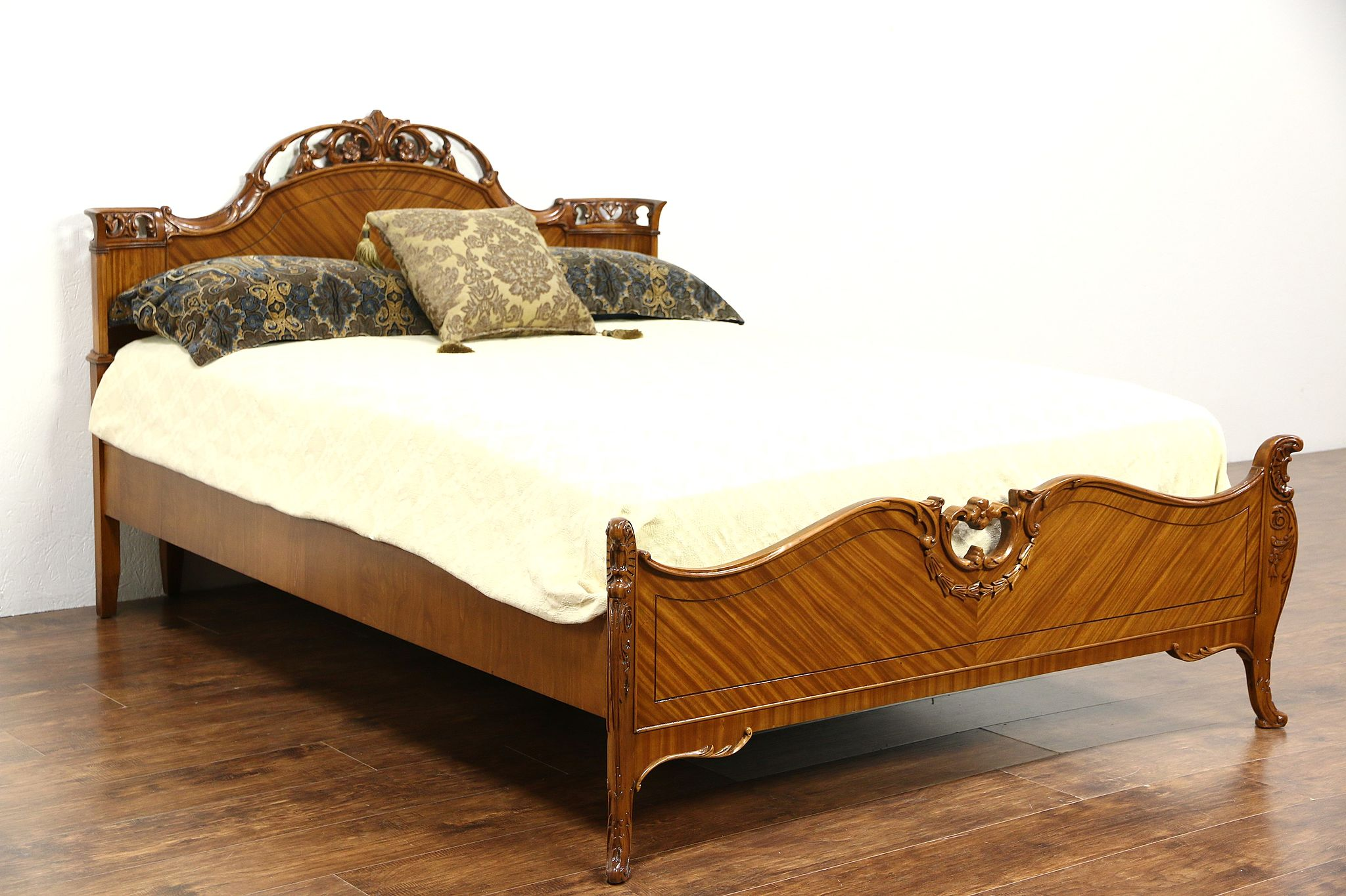 Beds Independent Antique/vintage Carved French Oak Double Bed