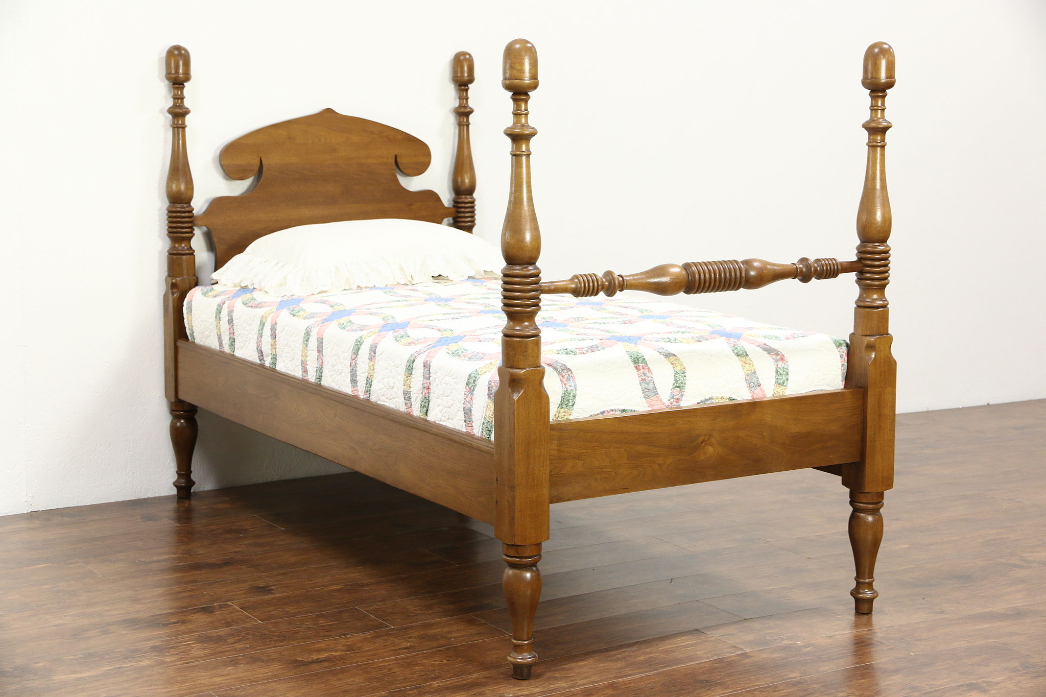 SOLD - Butternut 1890\'s Antique Twin or Single Acorn Poster Bed ...