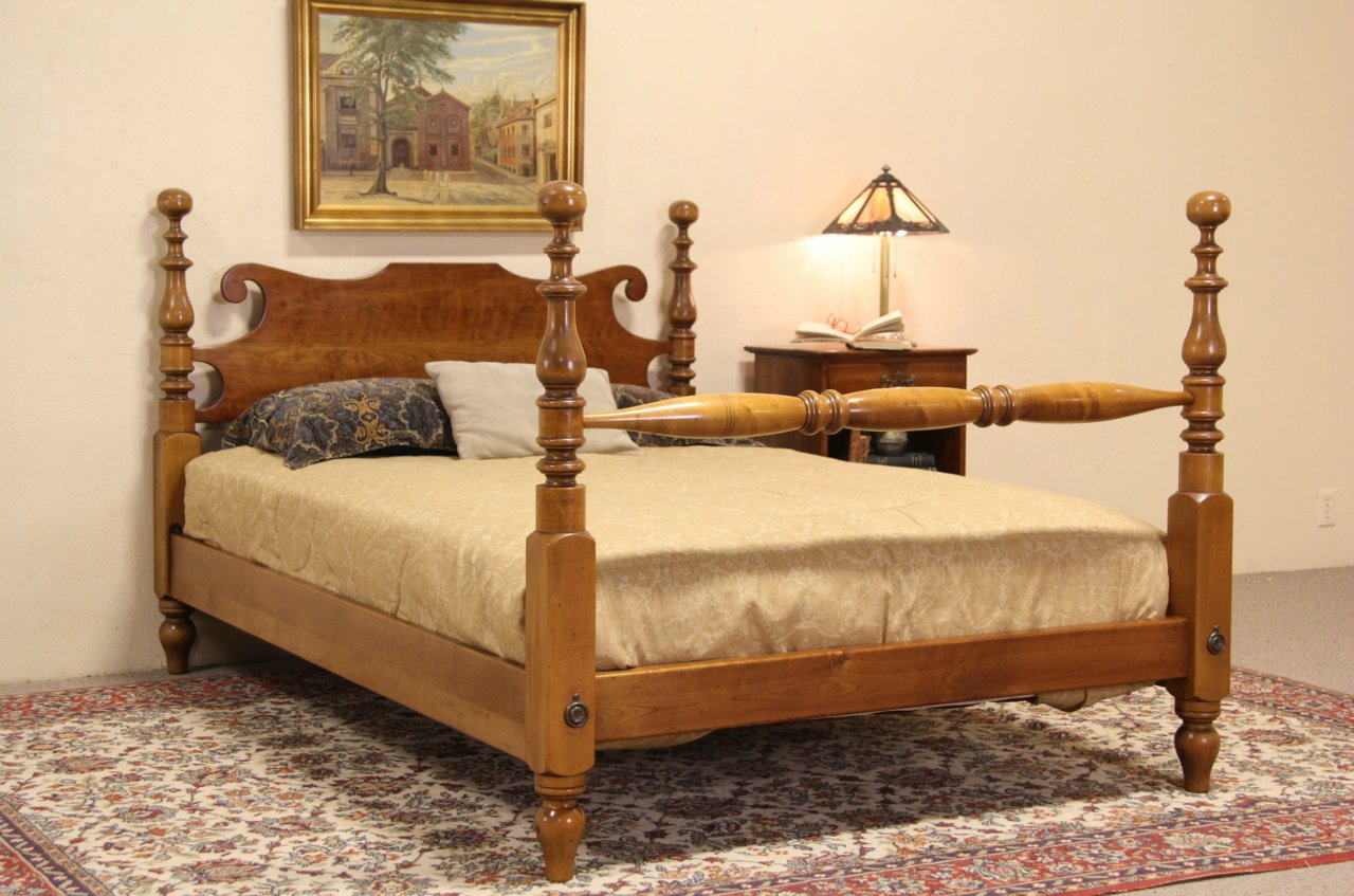 Stickley Ny Cherry Maple Vintage Full Size Poster Bed