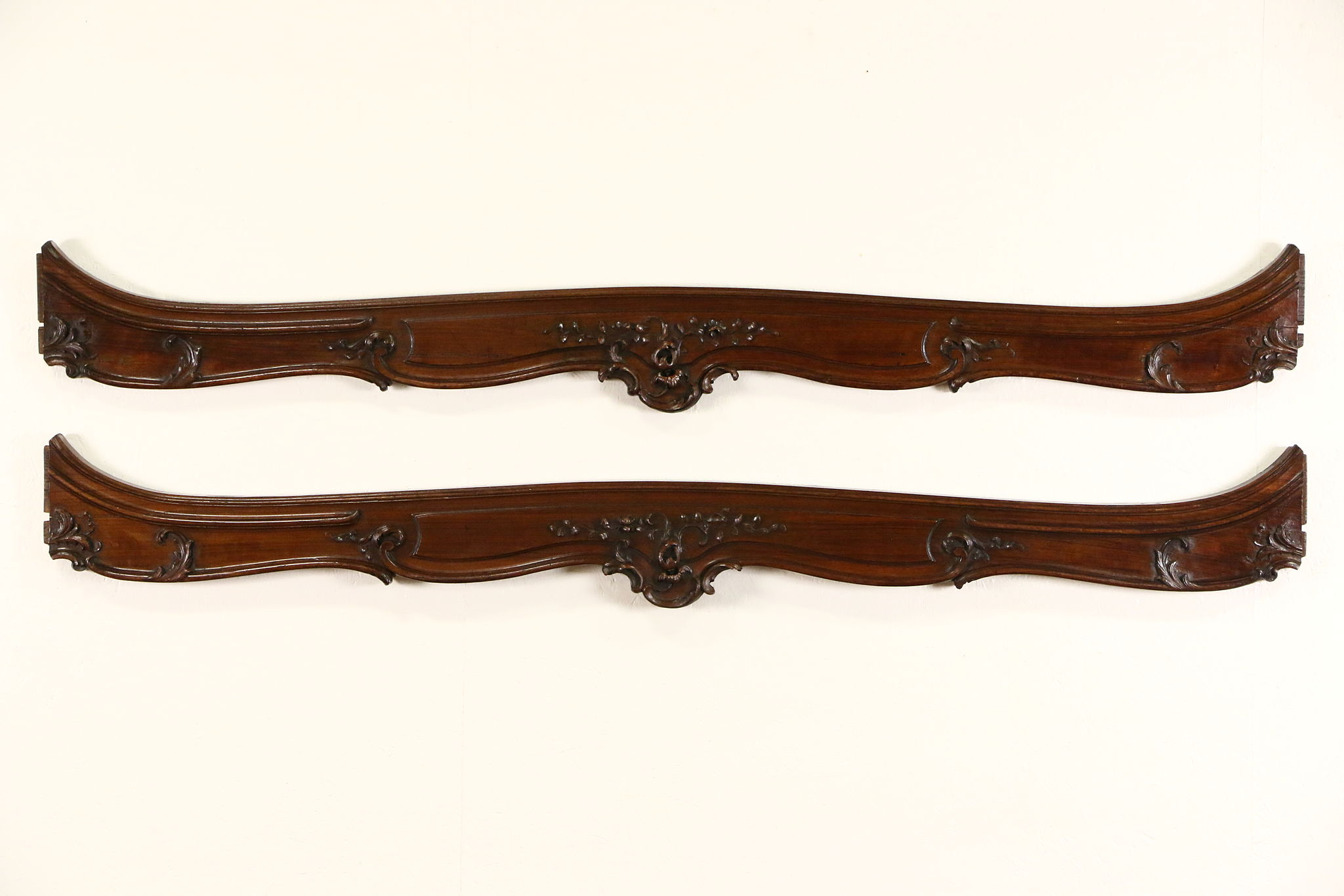 Sold Pair Of Antique French 1890 S Carved Walnut Salvage