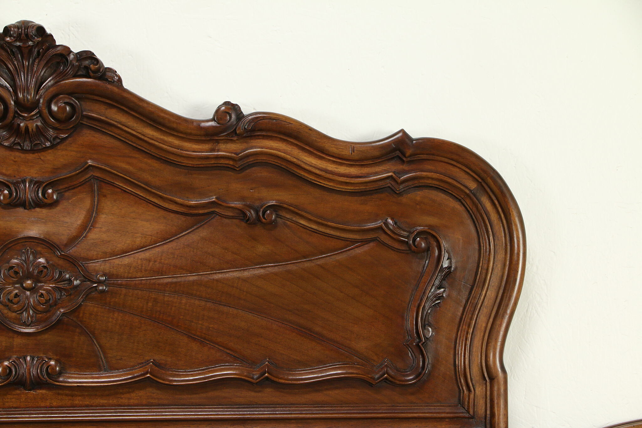 Sold Italian Antique Carved Walnut King Size Bed Headboard 31627 Harp Gallery Antiques Furniture
