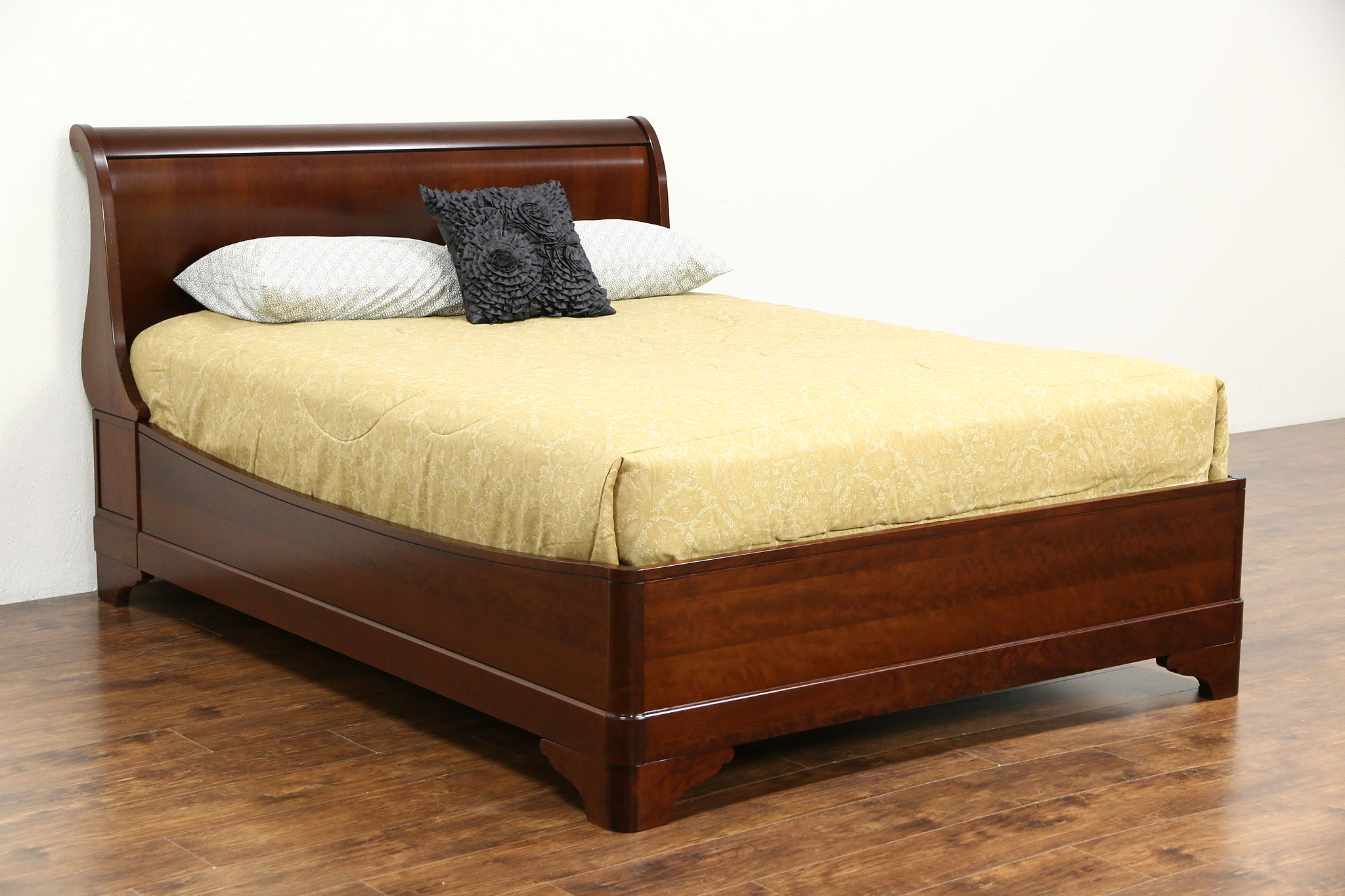 Sold Cherry Queen Size Traditional Sleigh Bed Signed Grange Of  # Table Grange France