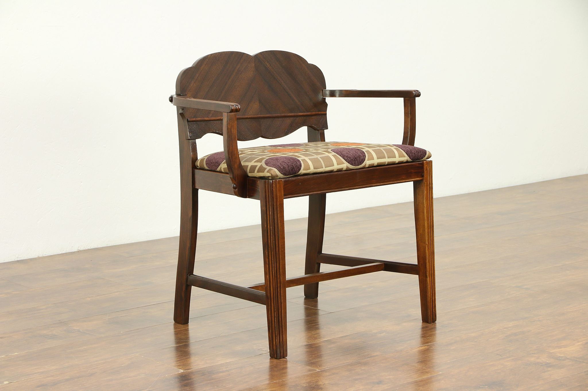Sold Art Deco 1930 Vintage Vanity Bench Or Chair New Upholstery 30467 Harp Gallery Antiques Furniture
