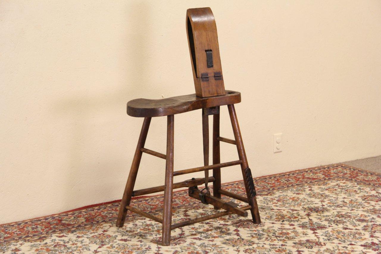 Sold Horse Harness Maker Or Saddler Antique 1900 Work