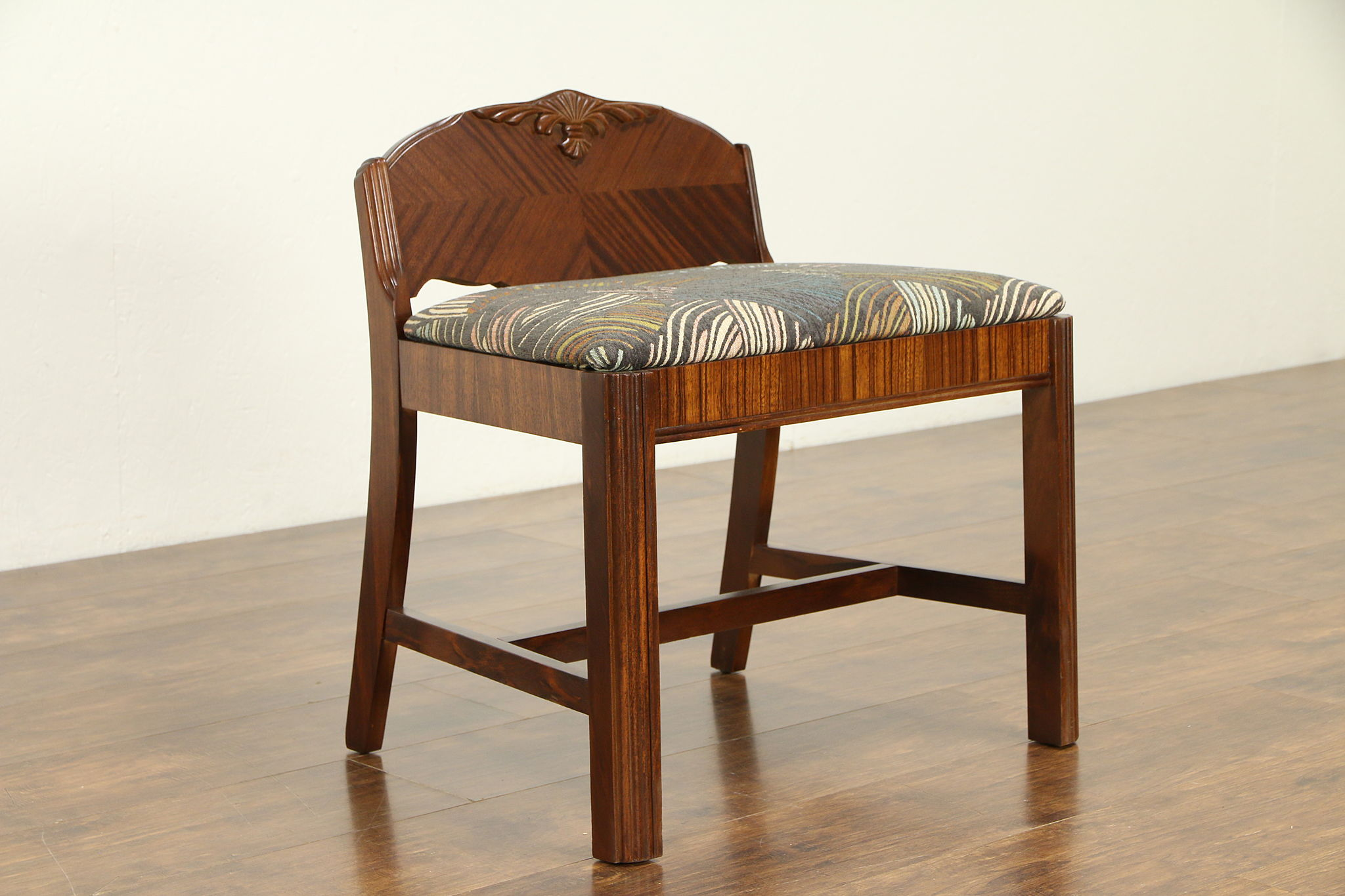 Sold Art Deco 1930 S Vintage Vanity Bench Or Chair New Upholstery 32221 Harp Gallery Antiques Furniture