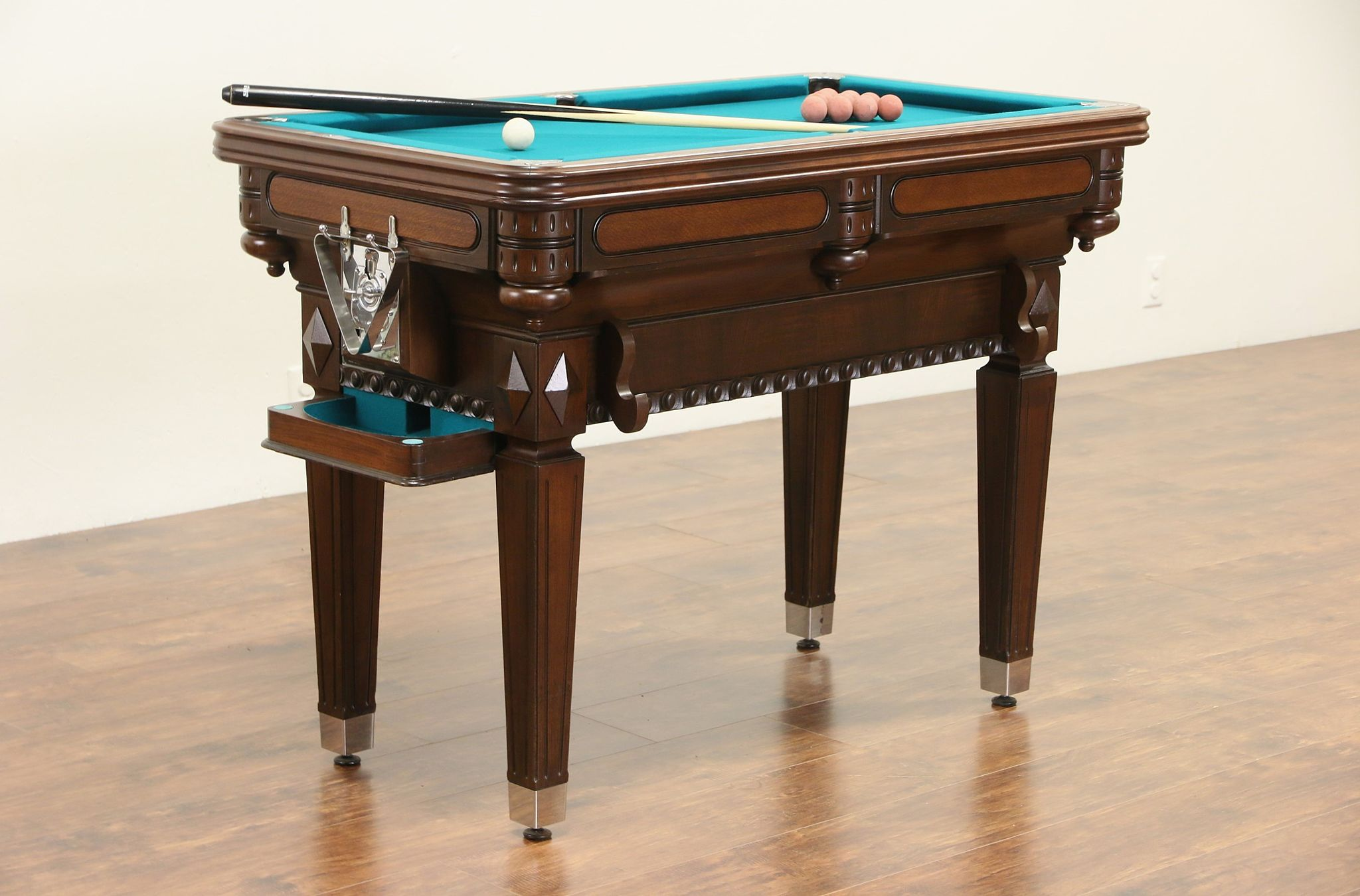 SOLD Billiardette Pat Vintage Small Billiard Or Pool Table - Pool table scorekeeper