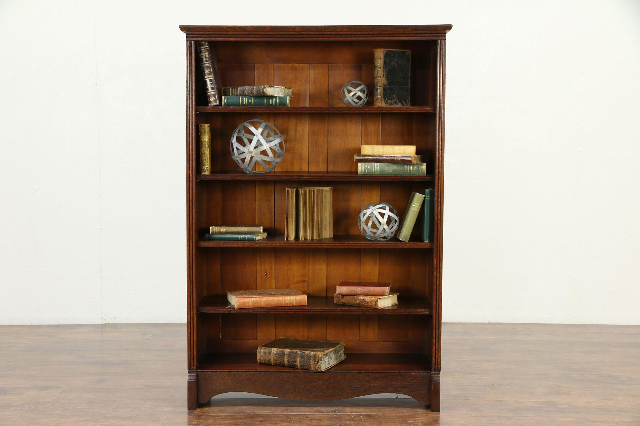 Oak Victorian Antique Bookcase Or Library Bookshelf Bath Cabinet 30110