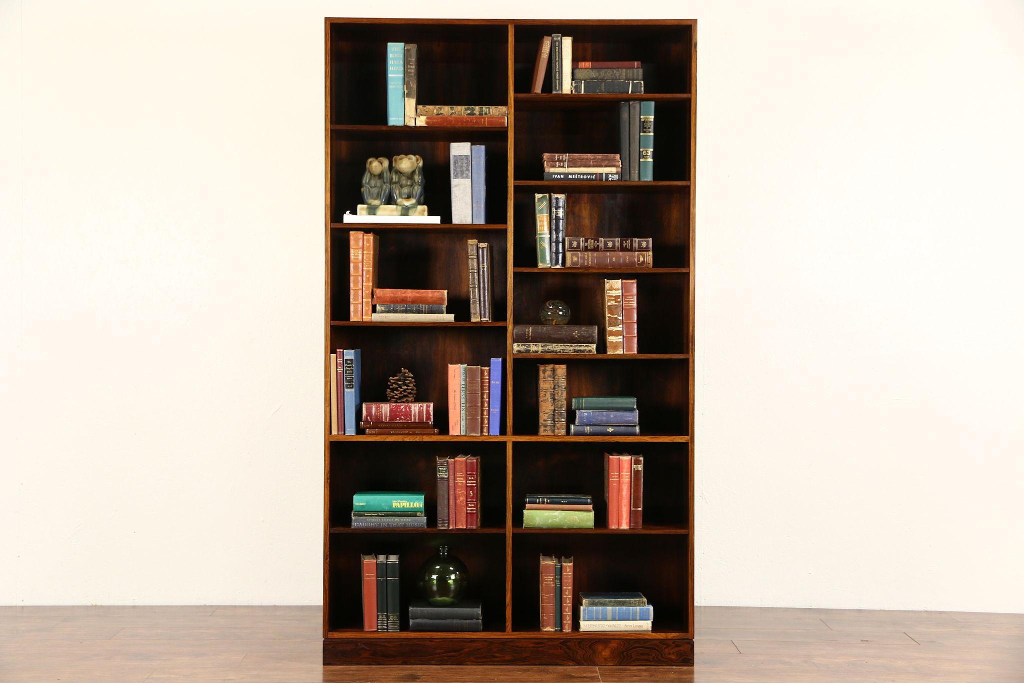 rosewood midcentury or danish modern vintage bookcase