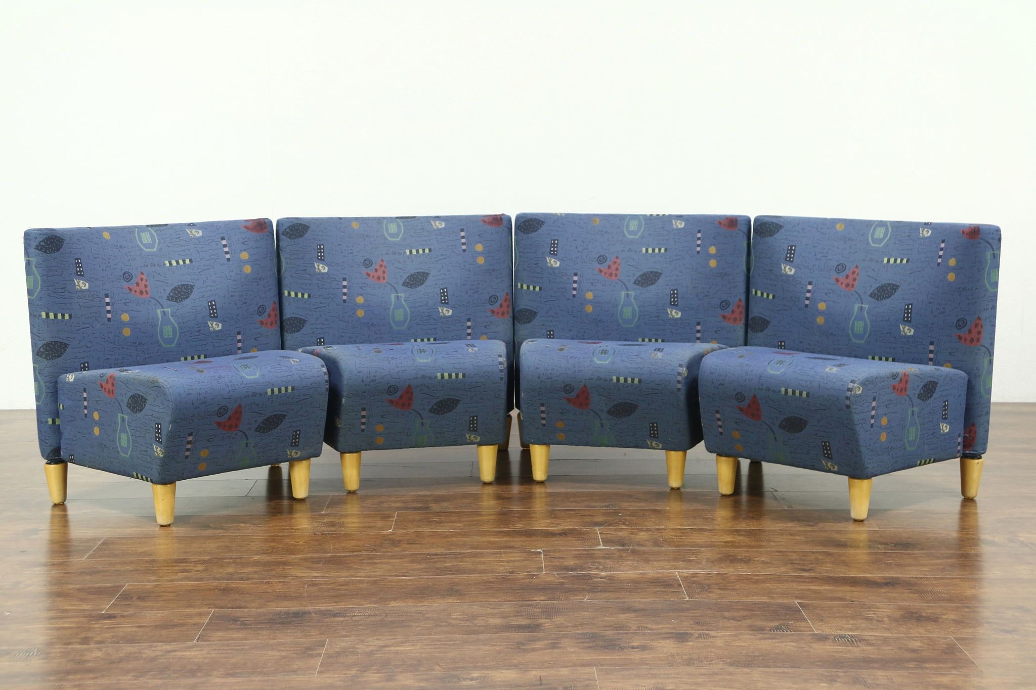 Excellent Midcentury Modern Vintage Sectional Sofa Set Of 4 Danish Chairs Jorgensen 1997 Evergreenethics Interior Chair Design Evergreenethicsorg