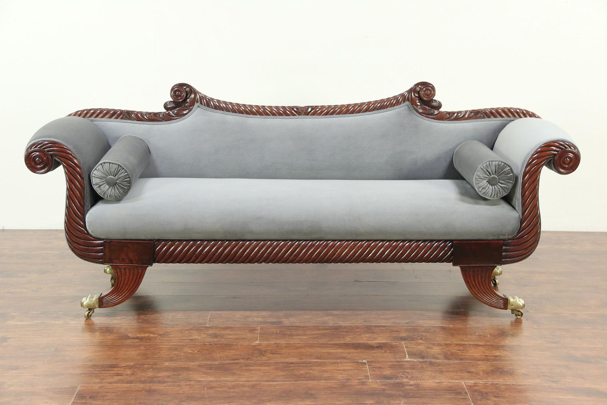 Sold Empire Antique 1830 Sofa Rope