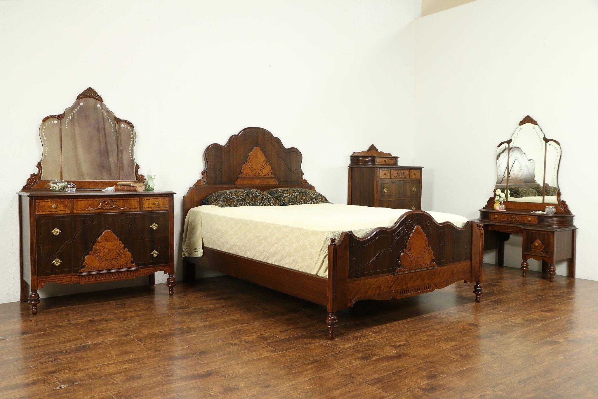 Fabulous English Tudor Antique 4 Pc Bedroom Set Queen Size Bed 31385 Download Free Architecture Designs Pendunizatbritishbridgeorg