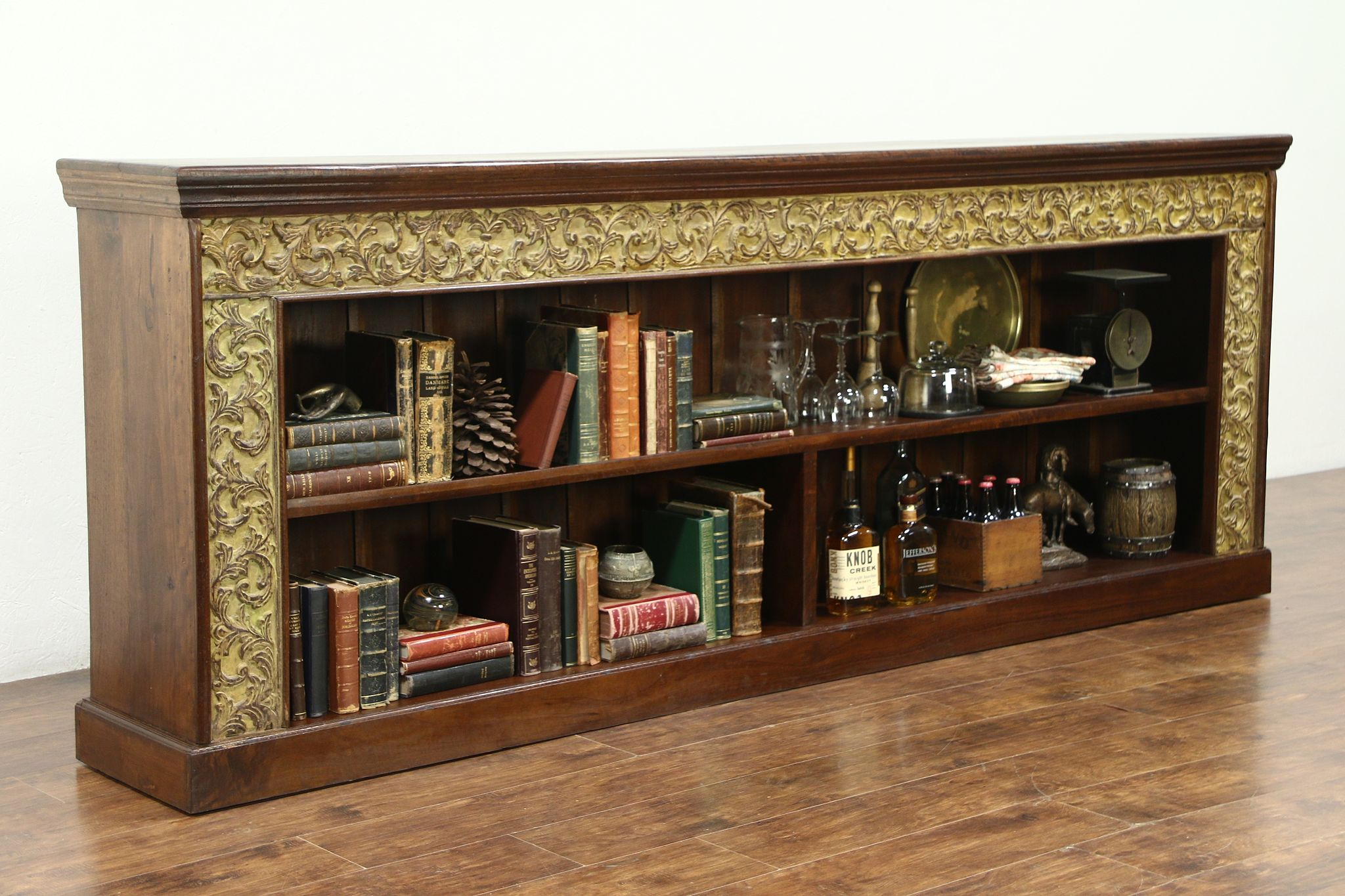 Counter, TV Console Cabinet, Bookcase Or Backbar, Hand Carved Dutch East  Indies ...